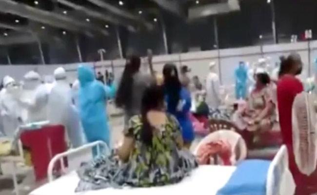 Patients Perform Garba at Covid-19 Facility in Maharashtra viral - Sakshi