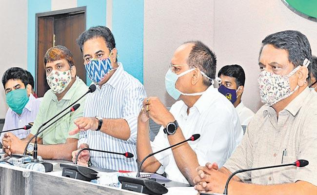 Minister KTR Review With Superiors On Flood Situation Measures - Sakshi