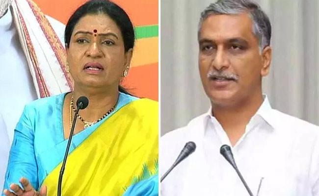 DK Aruna Fires On Harish Rao - Sakshi