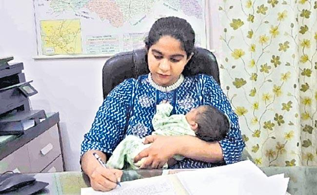 IAS Officer Saumya Pandey Returned To Duty 14 Days After Giving Birth - Sakshi