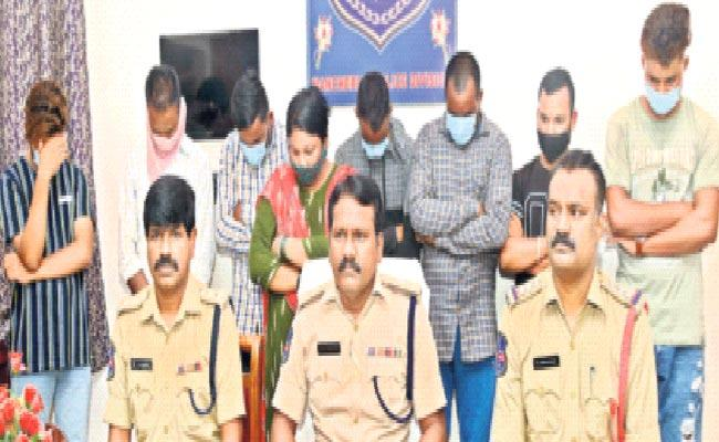 Prostitution Gang Arrested In Mancherial District - Sakshi