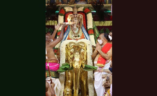 Sixth Day Of  Navratri Brahmotsavalu Swamy Blesses Devotees - Sakshi