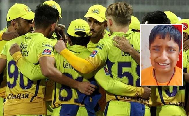 Watch Video Of Child Crying For CSK Poor Performance In IPL 2020  - Sakshi