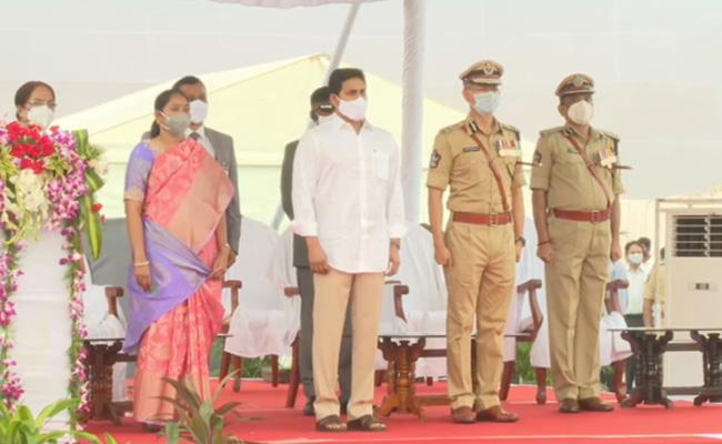 CM YS Jagan Attend Police Martyrs Commemoration Day - Sakshi