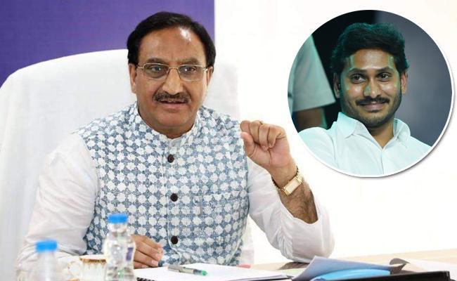 Central HRD Minister Ramesh Pokhriyal Praises AP CM YS Jagan Over His Ruling Methods - Sakshi