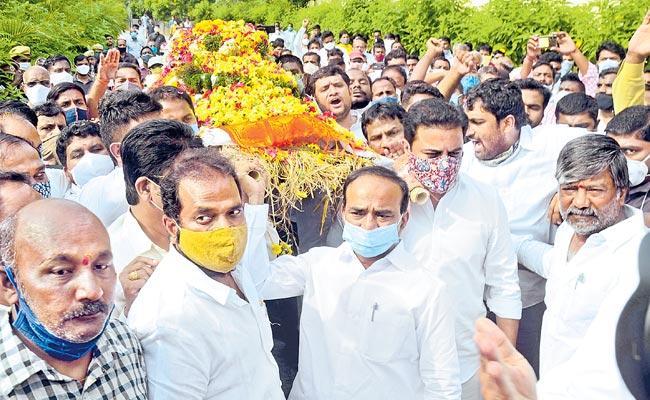 Nayani Narshimha Reddy Funerals Completed - Sakshi
