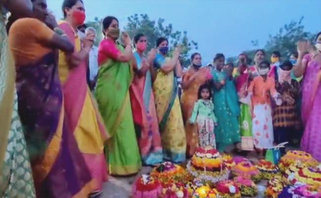 Bathukamma Celebrations In Warangal District - Sakshi