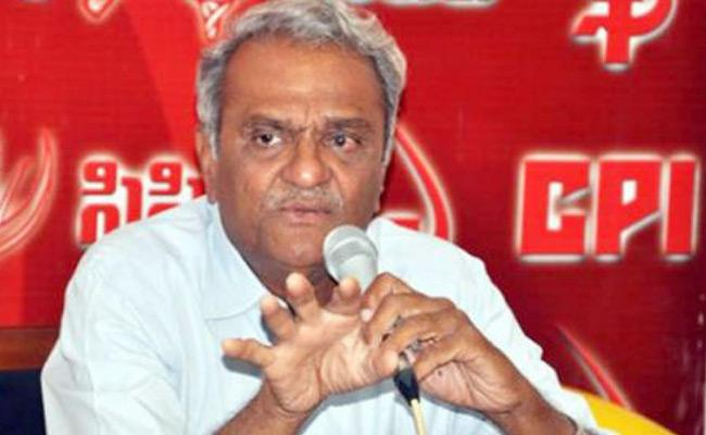 CPI Leader Narayana Slams TRS Government Over RTC Issue - Sakshi