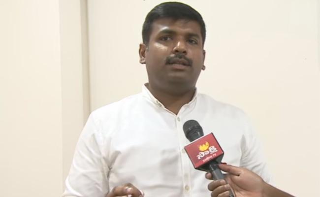 Gudivada Amarnath Slam On TDP Over Geetam Occupied Lands - Sakshi