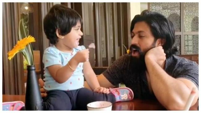 Ayra Will Not Share Ice Cream With Dad Yash - Sakshi