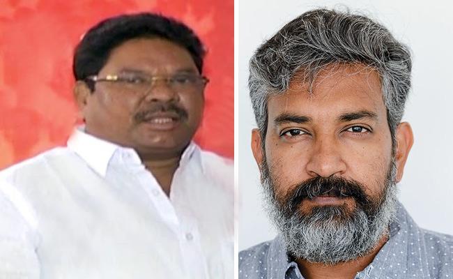 MP Soyam Bapurao Warned Director Rajamouli - Sakshi