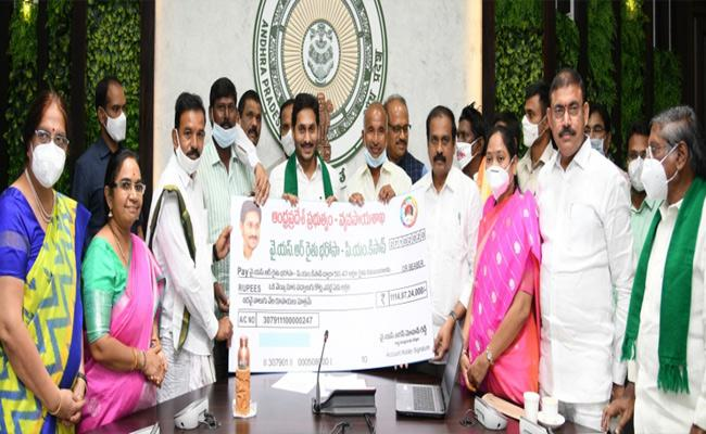 CM Jagan Launches YSR Rythu bharosa Second Phase Instalment - Sakshi