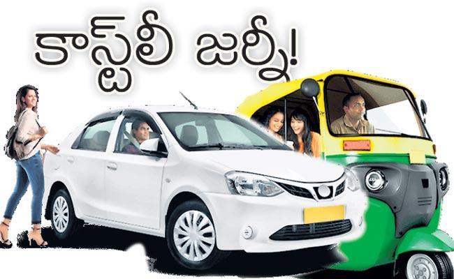 Cab Rides Get More Expensive in Hyderabad - Sakshi