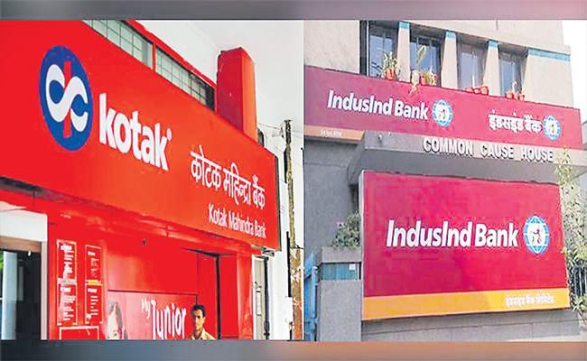 Kotak Mahindra Bank is exploring takeover of IndusInd Bank - Sakshi