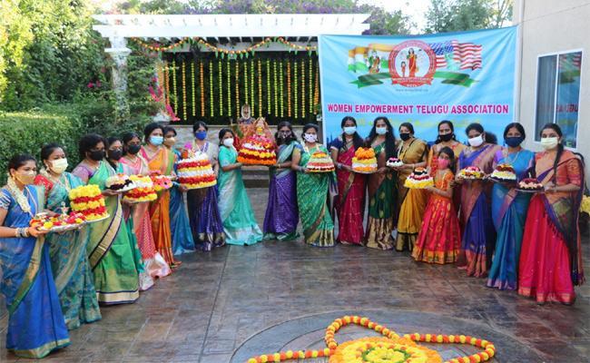 WETA Celebrates Bathukamma Festival In California - Sakshi