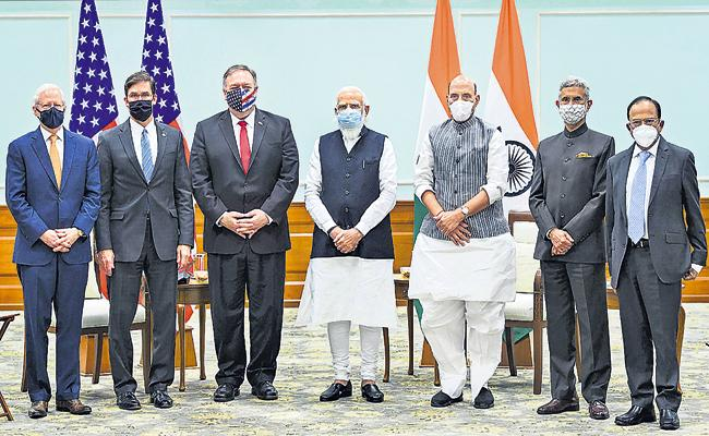 India US Sign Major Defence Pact - Sakshi