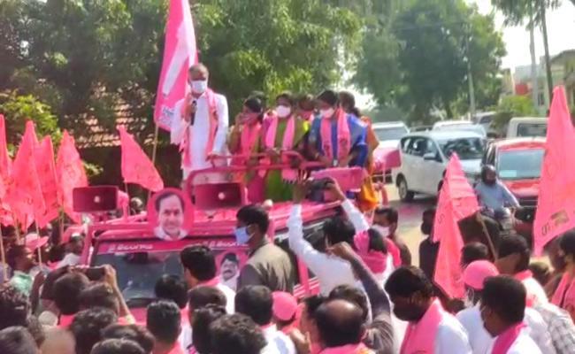 Dubbaka Bypolls: Harish Rao Participated In Election Campaign - Sakshi