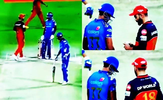 IPL 2020 Surya Kumar Yadav Stare War With Kohli Viral On Social Media - Sakshi