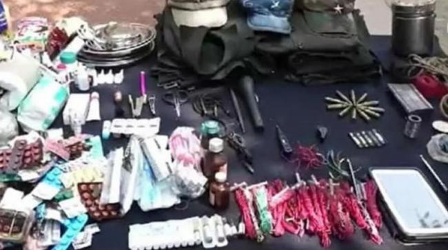 Capture of Heavy Maoist Dump in Andhra Odisha Border - Sakshi