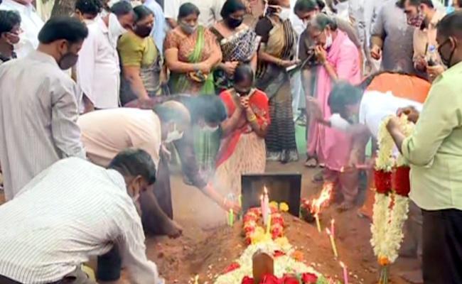 EC Gangi Reddy Funeral Program - Sakshi