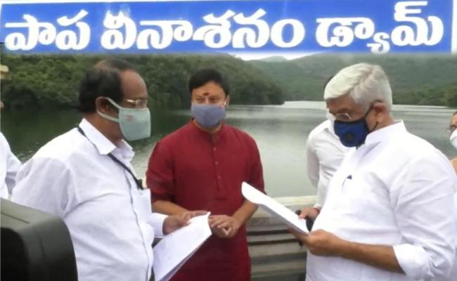 Gajendra Singh Shekhawat Visits Papavinasanam Dam In Tirupati - Sakshi