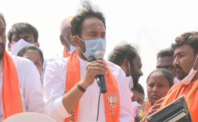 BJP Leaders Kishan Reddy Election Campaign in Dubbaka - Sakshi