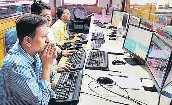 Sensex and Nifty End Lower For Second Day - Sakshi