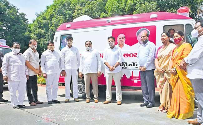 Gift A Smile Ambulance Services Started By KTR In Telangana - Sakshi