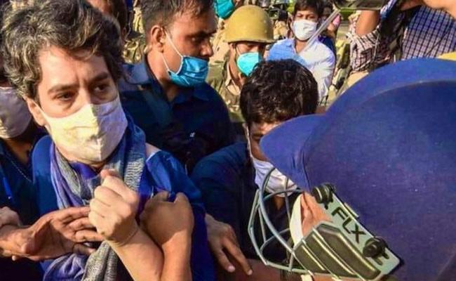 Noida Police Personnel Apologies For Manhandling Priyanka Gandhi - Sakshi