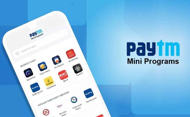 Paytm launches mini app store - Sakshi
