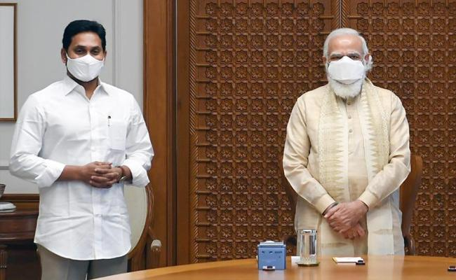 CM Jagan Meets PM Narendra Modi In Delhi - Sakshi