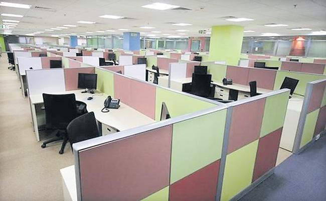 Office space leasing falls 50percent in September quarter - Sakshi