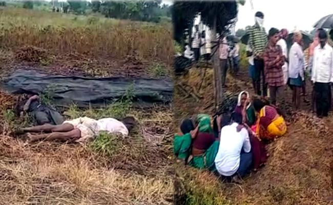 Father And Son Died Over Current Shock IN Nirmal - Sakshi