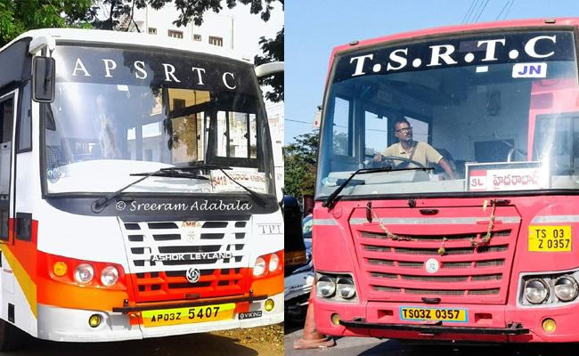 Story On Telangana Andhra Pradesh Interstate Bus Services - Sakshi