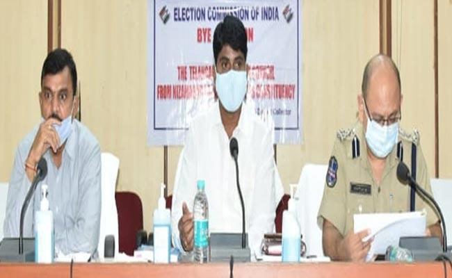 Municipal MLC Elections In Nizamabad Corona Measures - Sakshi