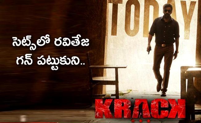 Ravi Teja Resumes Krack Movie Shooting In HYD - Sakshi