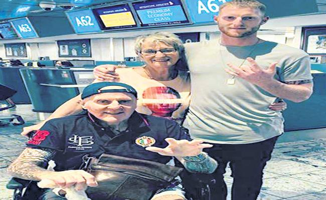 Ben Stokes values precious time spent with father in Christchurch - Sakshi