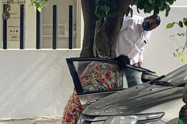 Bengaluru Woman Dies Getting Jammed Between Tree Car Door - Sakshi