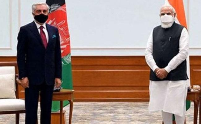 PM Narendra Modi Meets Afghanistan Diplomat Abdullah - Sakshi