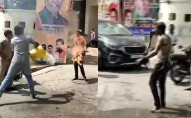 BJP Worker Attempts Suicide At Office Hyderabad - Sakshi