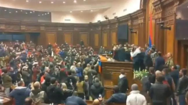 Armenian Parliament Speaker Assaulted Protesters Peace Deal - Sakshi