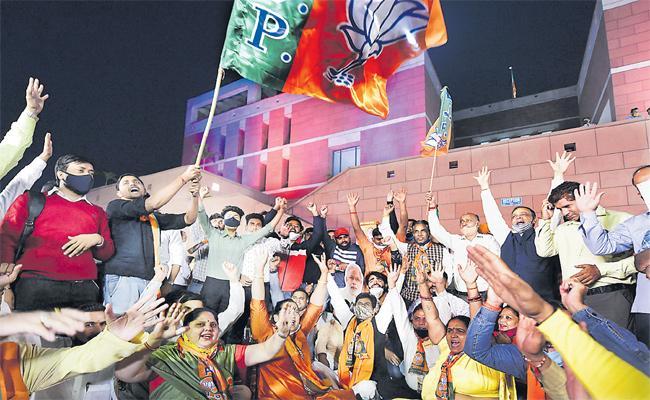 NDA Secures Majority Mark In Gruelling Battle For Bihar Assembly - Sakshi