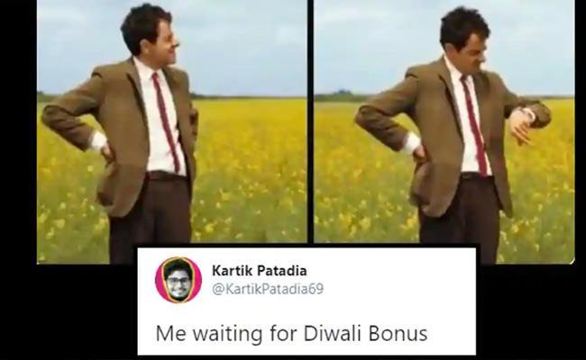 Diwali Bonus Memes Trending In Twitter - Sakshi