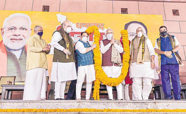 Development only basis for politics now women BJP's silent voters - Sakshi
