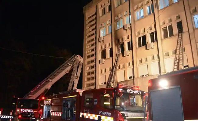 Ten Deceased In Covid 19 Hospital Blaze In Romania - Sakshi