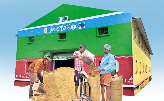 Innovative Services Within Rythu Bharosa Kendras In AP - Sakshi