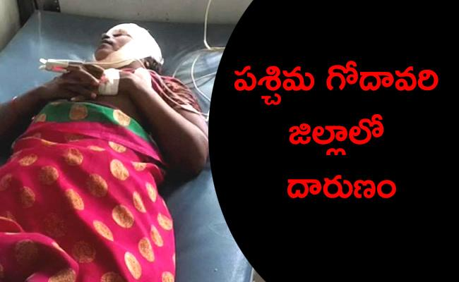 Man Attacks Wife And Son With Axe In West Godavari - Sakshi