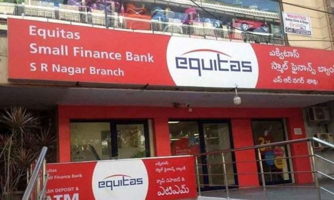 Equitas small finance bank lists with discount in NSE - Sakshi