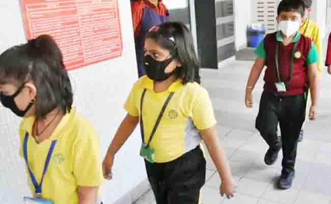 Schools Reopen with Odd Even System in Assam - Sakshi