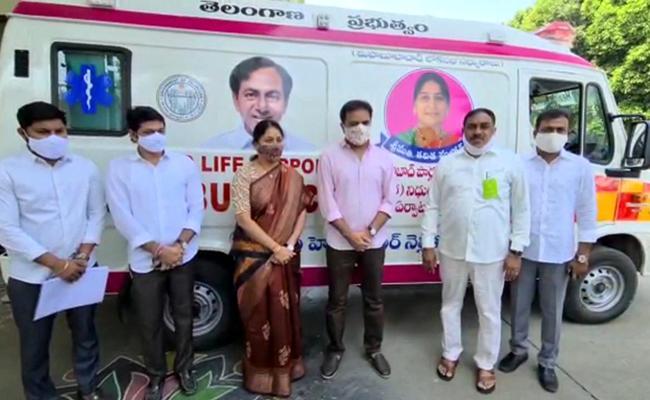 Minister KTR Started Who Sent 19 Ambulance For Free - Sakshi